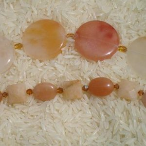 Citrine and Aragonite Bracelet