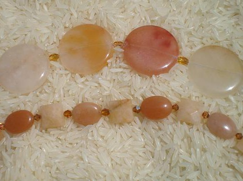 B005 Citrine and Aragonite Bracelet