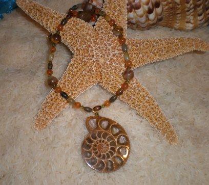N001 Ammonite Pendant