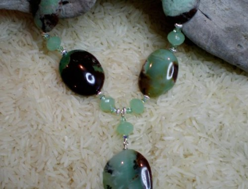N002 Chrysoprase Necklace