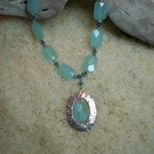 Silver and Blue Quartz Necklace