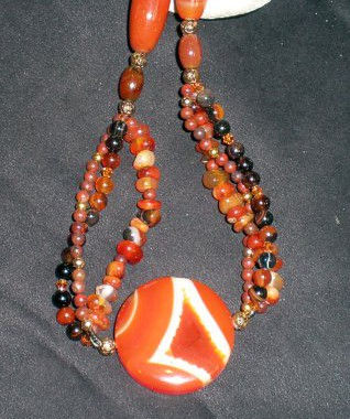 N009 Carnelian Multi Strand Necklace