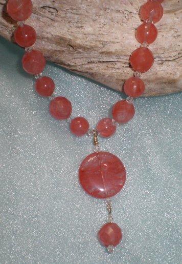 Cherry Quartz Miya Necklace