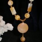 Citrine and Aragonite Necklace
