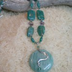 Russian Amazonite Circle Pendant