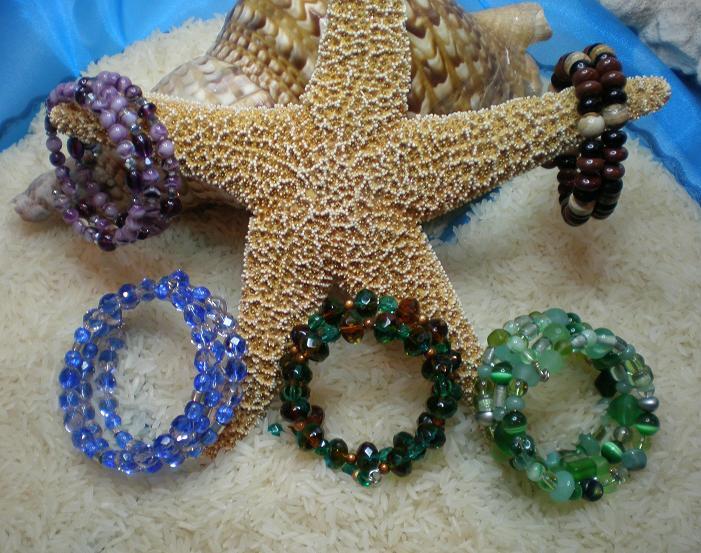 Coiled Beaded Bracelet