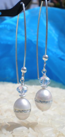 Pearls embedded with Crystals