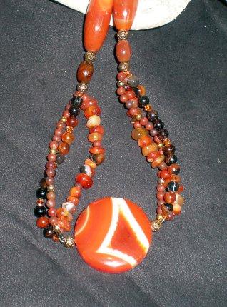 Carnelian Multi Strand Necklace